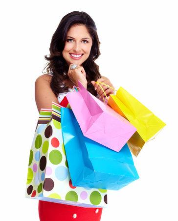 shopper: Beautiful woman with a shopping bag