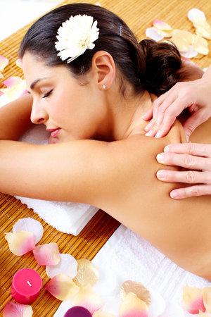 Young beautiful woman getting massage in spa salon. Stock Photo - 16959026