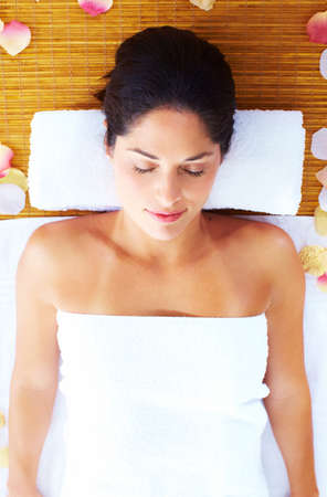 Young beautiful woman getting massage in spa salon. Stock Photo - 16959008