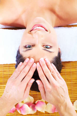 Young beautiful woman getting massage in spa salon. Stock Photo - 16959013