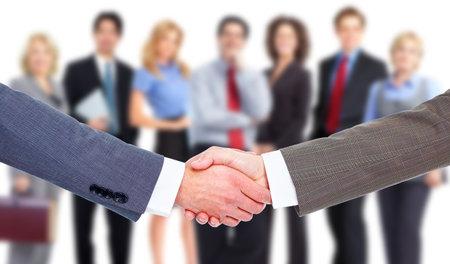 Handshake. Group of business people. Teamwork.