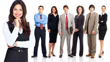 Business woman and group of people  Stock Photo