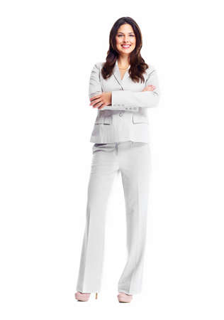 Beautiful young business woman isolated on white background. Stock Photo - 16959576