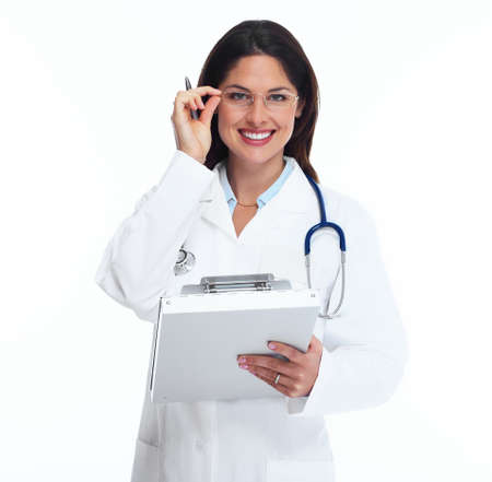 Medical doctor woman. Isolated on white background. Stock Photo - 16958982