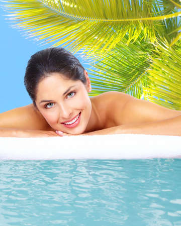 Beautiful young woman in spa massage salon  Stock Photo - 17244986