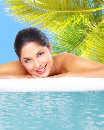 Beautiful young woman in spa massage salon Stock Photo - 17244986