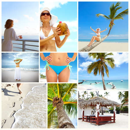 Exotic luxury resort collage  Stock Photo - 17245175