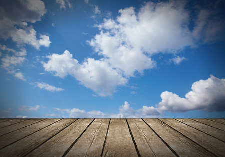 Sky and wood background  Stock Photo - 17249859