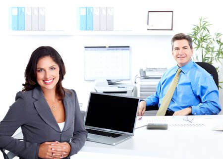 Business woman with laptop, computer Stock Photo - 17249873