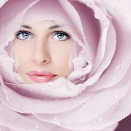 Beautiful woman face flower  Stock Photo - 17287977