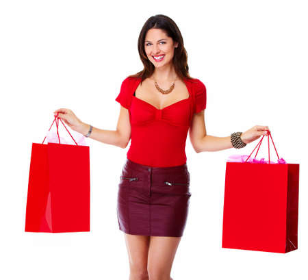 Beautiful woman with a shopping bags  photo