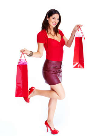 Beautiful woman with a shopping bags  Stock Photo - 17414997