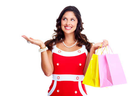 Beautiful woman with a shopping bags  Stock Photo - 17414998