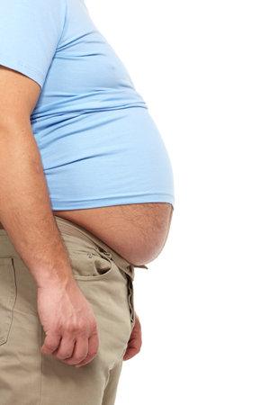 pancia grassa: Uomo grasso con una grande pancia