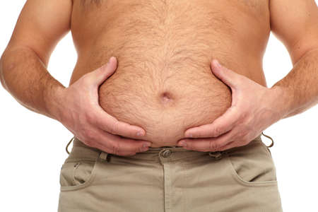 Fat man with a big belly  Stock Photo - 17482325