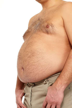 Fat man with a big belly Stock Photo - 17482322
