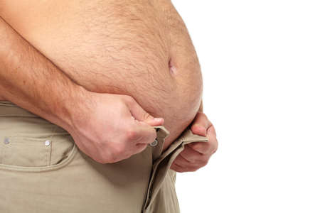 Fat man with a big belly  Stock Photo - 17482317