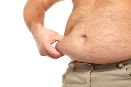 Fat man with a big belly  Stock Photo - 17482310