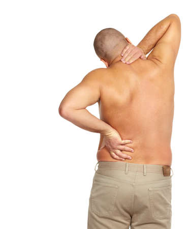 Man with a back pain Stock Photo - 17482306