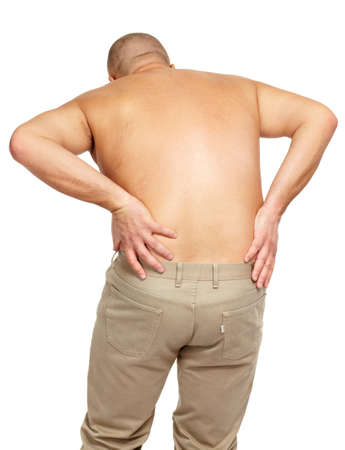Man with a back pain Stock Photo - 17482307