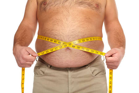 Fat man with a big belly  Stock Photo - 17482324
