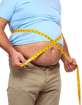 Fat man with a big belly Stock Photo - 17482819