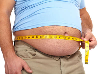 Fat man with a big belly  Stock Photo - 17482821
