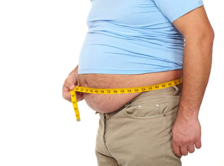 Fat man with a big belly  Stock Photo - 17482818
