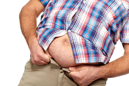 Fat man with a big belly Stock Photo - 17482825