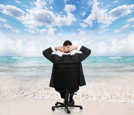 iş adamı: Işadamı rahatlatıcı Stok Fotoğraf