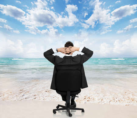 Relaxing businessman Stock Photo - 17573236