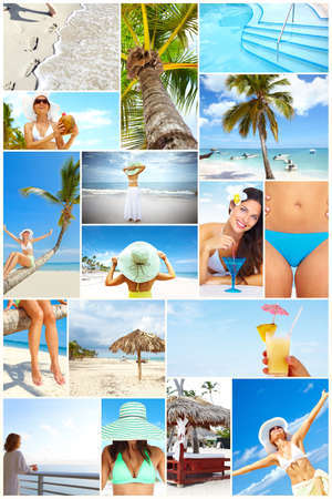 Exotic luxury resort collage  Stock Photo - 17636542