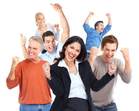 Groep gelukkige persoon Stockfoto