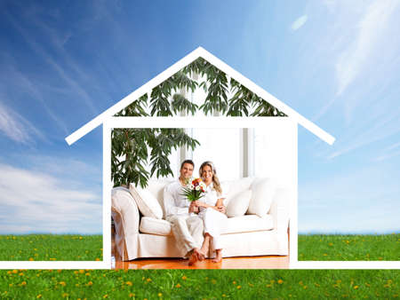 property insurance: Se alquila casa Foto de archivo