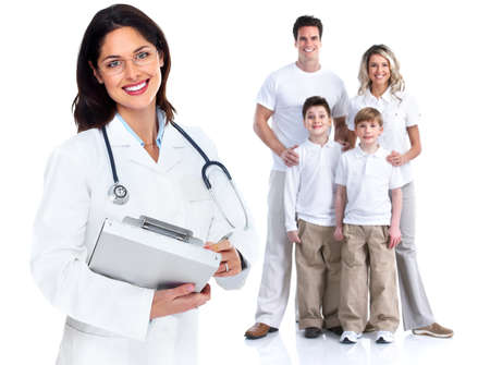 grippe: Family doctor woman  Health care  Stock Photo
