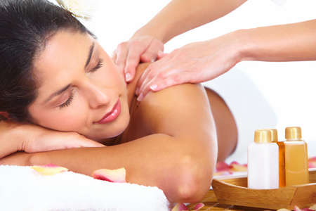Young woman getting massage in spa salon  Stock Photo - 17878107