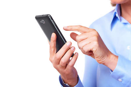 Hands of woman with a smartphone  Stock Photo - 17876661