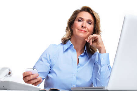 Business woman having a headache  photo