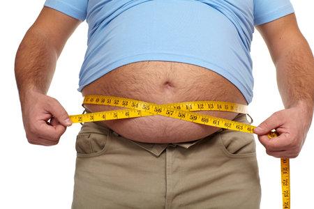 cuerpo hombre: Hombre gordo con una gran barriga