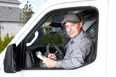 Conductor de camión Handsome Foto de archivo - 17878193