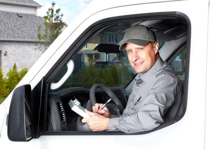 Handsome truck driver Stock Photo - 17878193