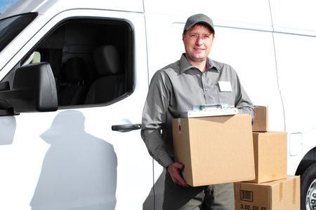 Delivery postal service man Stock Photo - 17877902