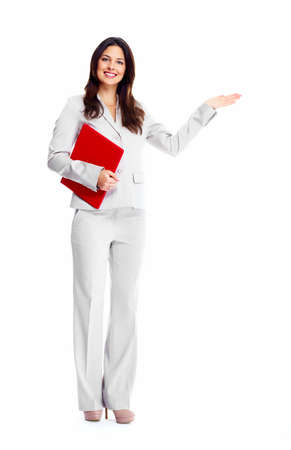 folded hands: Business woman
