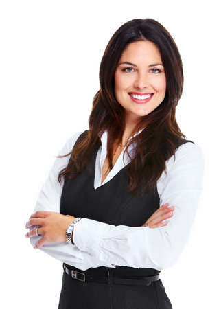 lady: Beautiful young business woman