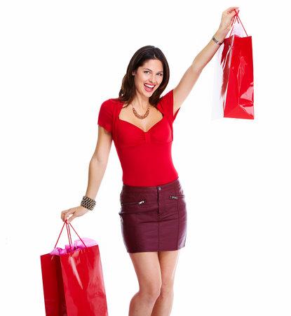 beauty shop: Beautiful woman with a shopping bags  Stock Photo
