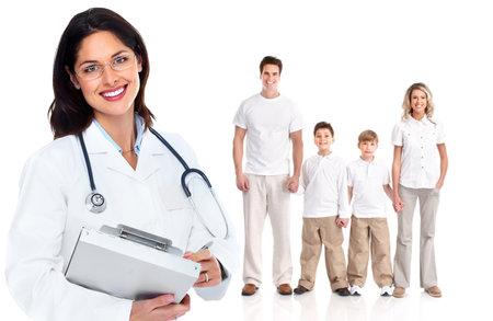 grupo de médicos: Médico de cabecera mujer Salud