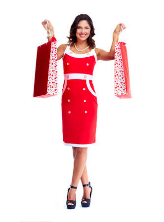 Beautiful woman with a shopping bags  Stock Photo - 17874315