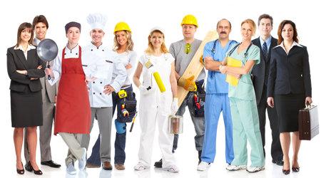 werk: Groep werknemers mensen