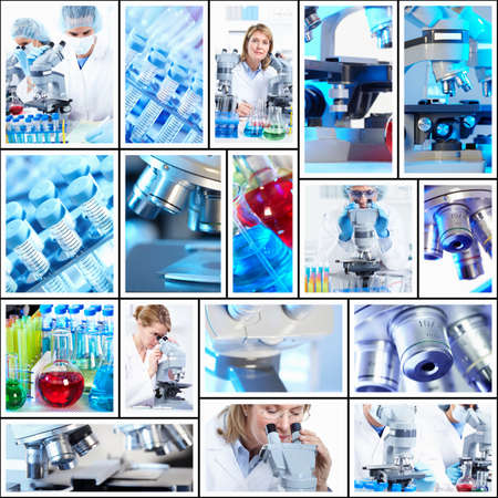 science scientific: Scientific background collage  Stock Photo