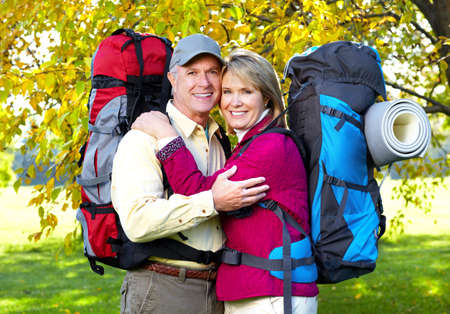 Senior tourists couple  photo